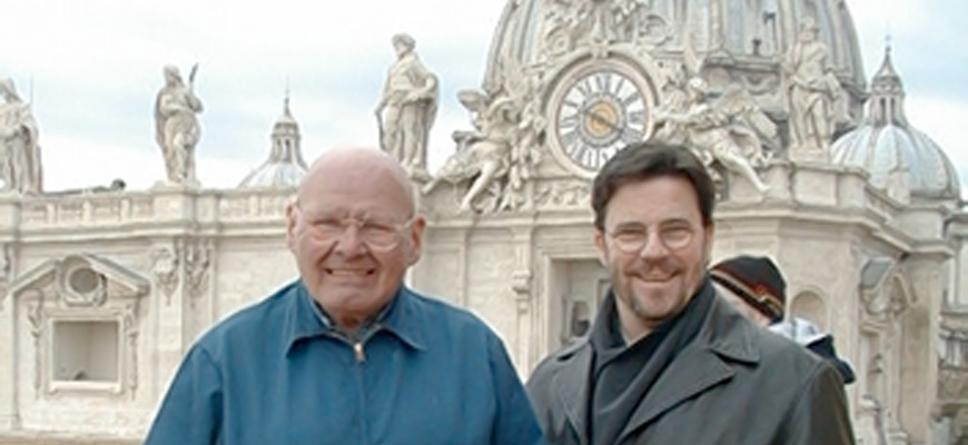 photo of Reginald and Dan at St Peter's